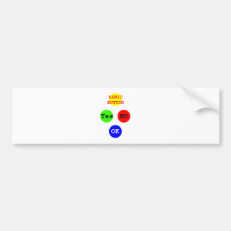 Yes No Buttons The MUSEUM Zazzle Gifts Bumper Sticker