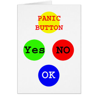 Yes No Buttons The MUSEUM Zazzle Gifts Card