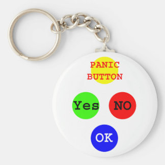 Yes No Buttons The MUSEUM Zazzle Gifts Key Chain
