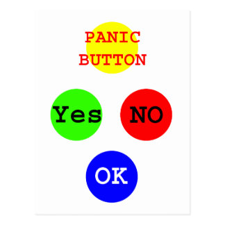 Yes No Buttons The MUSEUM Zazzle Gifts Postcards