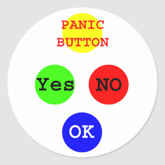 Yes No Buttons The MUSEUM Zazzle Gifts Round Stickers