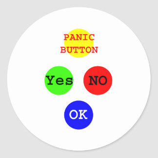 Yes No Buttons The MUSEUM Zazzle Gifts Round Sticker