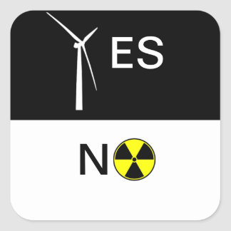 YES NO SQUARE STICKER