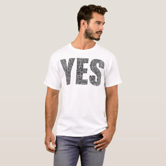 Yes No Typography T-Shirt