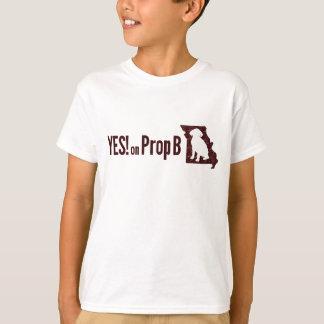 YES! on Prop B Kids T Shirt