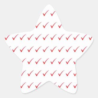 YES, positive success acceptance: cadeau pour tous Star Sticker