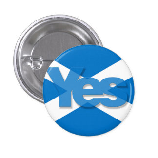 Yes Saltire 3 Cm Round Badge