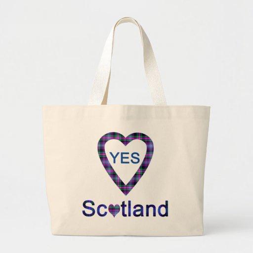 Yes Scotland Tartan Heart Bag
