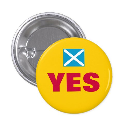 Yes Scottish Independence Flag Button Badge Pin