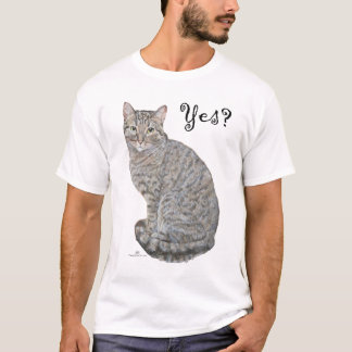 Yes?  Tabby Cat is Open T-Shirt