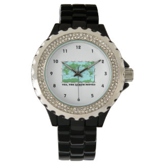 Yes The Earth Moves (Plate Tectonics Earthquakes) Wrist Watch