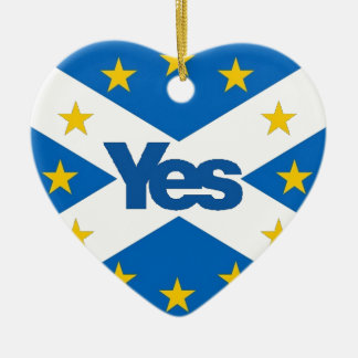 Yes to Independent European Scotland Ceramic Heart Decoration