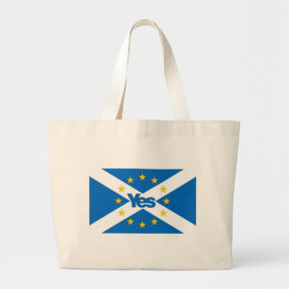 Yes to Independent European Scotland Large Tote Bag