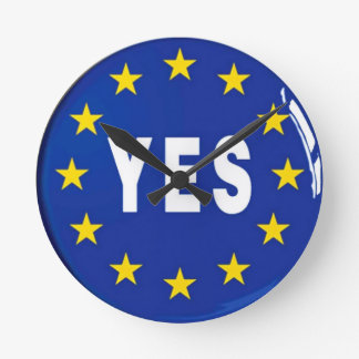 Yes to the EU - Stay in the European Union Round Clock