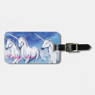 Yes, Unicorns Exist! Luggage Tag w Leather Strap