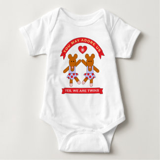 Yes We are Twins and You May Adore Us! Baby Bodysuit