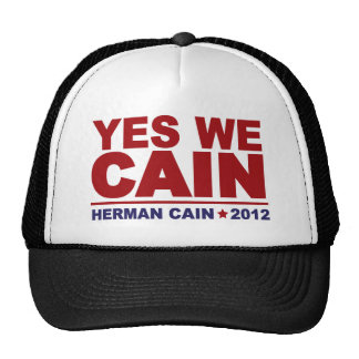 Yes We Cain Herman Cain 2012 Hats