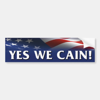 Yes We Cain - Herman Cain President Bumper Sticker