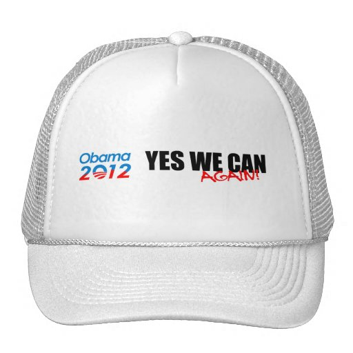 YES WE CAN AGAIN TRUCKER HAT