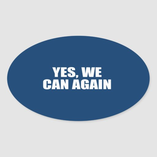YES, WE CAN AGAIN OVAL STICKERS