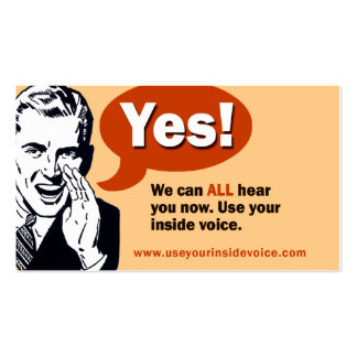 Yes! We can ALL hear you now. Pack Of Standard Business Cards