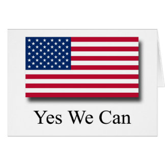 Yes We Can - American Flag Cards