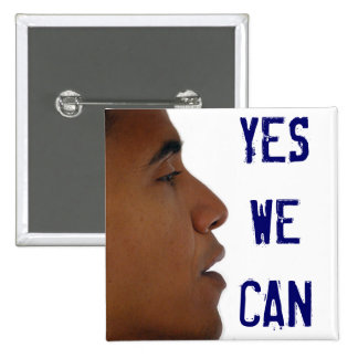 Yes We Can Button w/ Obama Profile