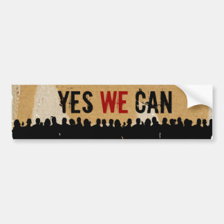 YES WE CAN CB-CR Bump.stick Bumper Sticker