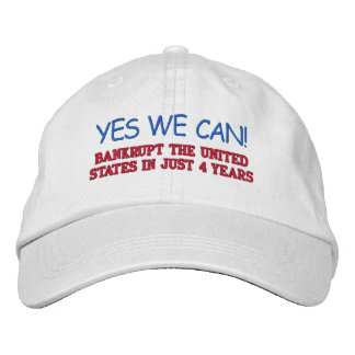 YES WE CAN! EMBROIDERED BASEBALL CAPS