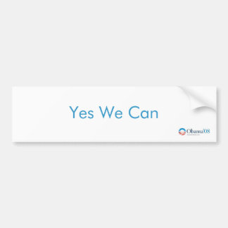 Yes We Can Obama '08 Bumper Sticker