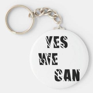 Yes We Can Obama Barack El Presidente Basic Round Button Key Ring
