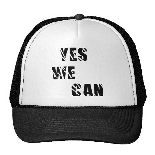 Yes We Can Obama Barack El Presidente Mesh Hat