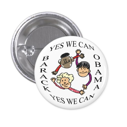 Yes We Can Obama Button