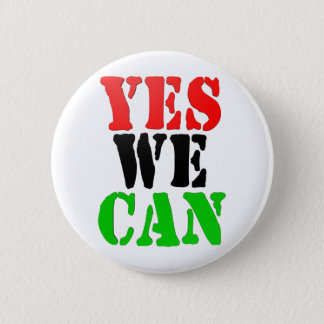 Yes We Can (Pan-African Flag) 6 Cm Round Badge