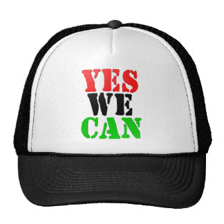 Yes We Can (Pan-African Flag) Mesh Hats