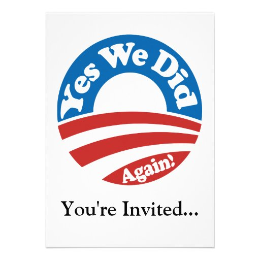 Yes We Did, Again! Personalized Invite