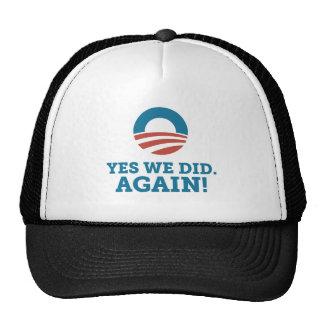Yes We Did Again Obama Biden Cap