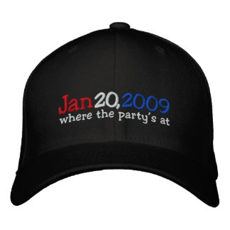 Yes We Did Barack Obama Official Party Hat Baseball Cap