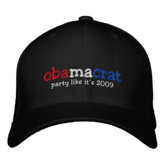Yes We Did Barack Obama Official Party Hat Embroidered Hat