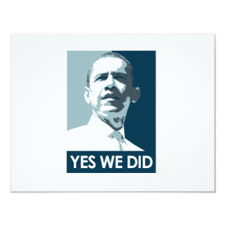 Yes we did Poster 1 11 Cm X 14 Cm Invitation Card