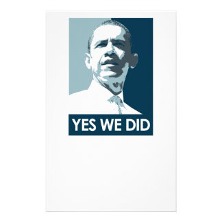 Yes we did Poster 1 Stationery