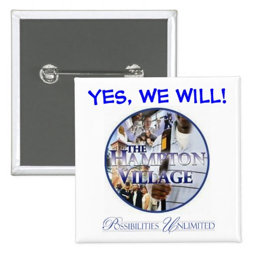 YES, WE WILL! Button