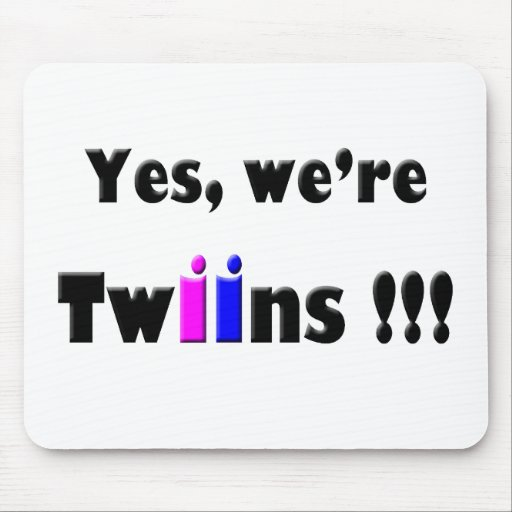 yes were twins pink-blue mouse pads