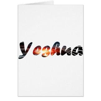 Yeshua 1 effet braise greeting card