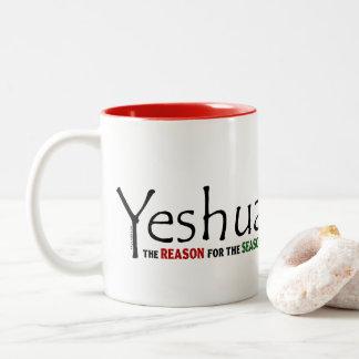 Yeshua Jesus Christmas Reason for the Season Two-Tone Coffee Mug