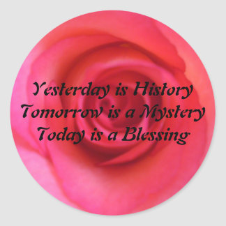 Yesterday is History Stickers