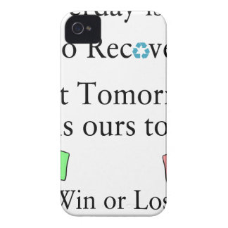 Yesterday is not ours to Recover, But Tomorrow is iPhone 4 Case-Mate Cases
