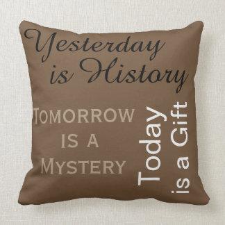 Yesterday, Tomorrow & Today Throw Pillow