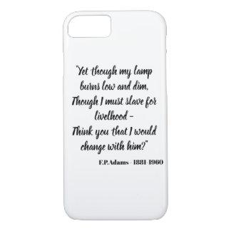 Yet though my lamp burns dim - F.P.Adams iPhone 8/7 Case