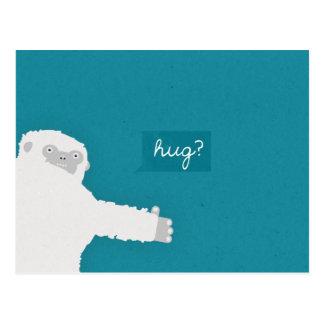 Yeti Hug Postcard